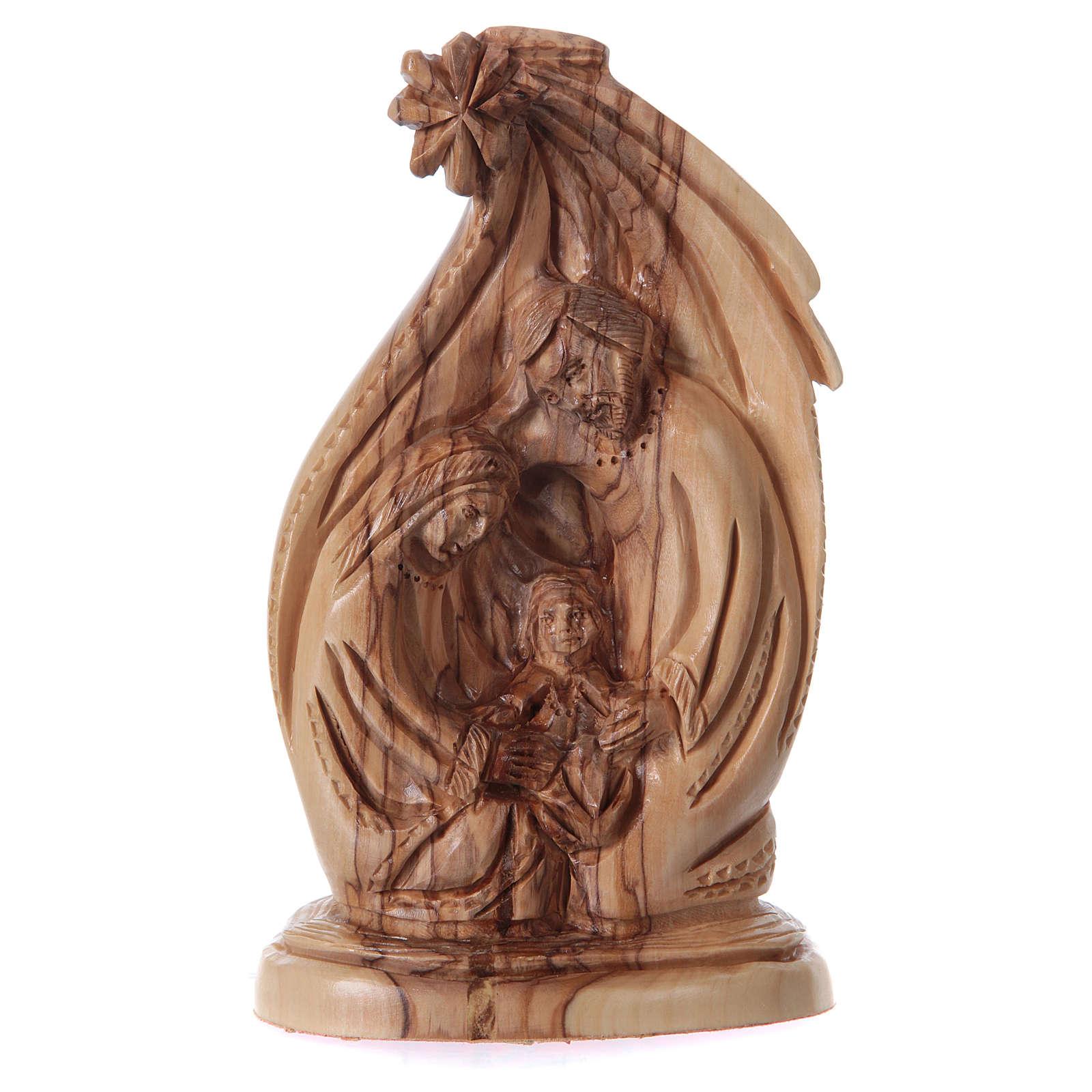 Natività in ulivo di Betlemme 20 cm 4