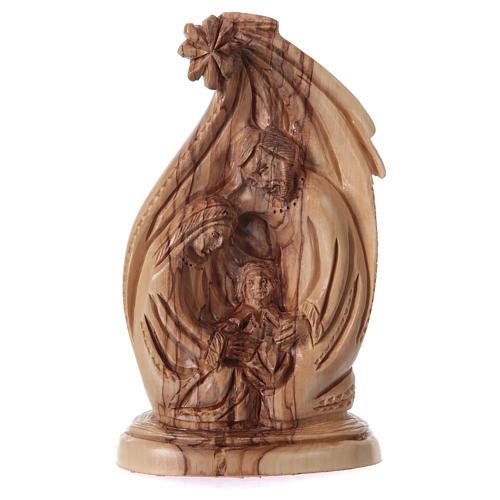 Natività in ulivo di Betlemme 20 cm 1