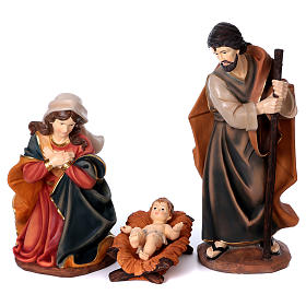 Painted resin Nativity Scene 100 cm 5 pieces s3