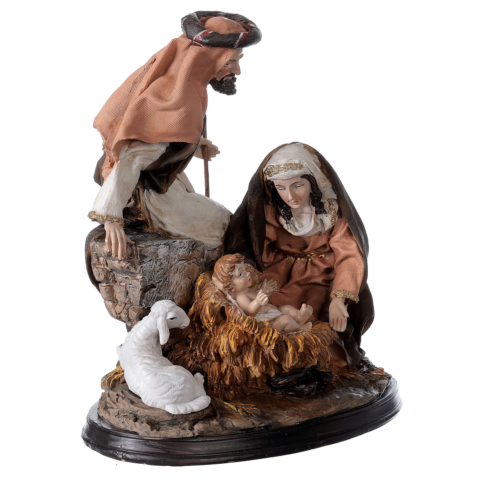 Nativity in resin with base 23 cm 3
