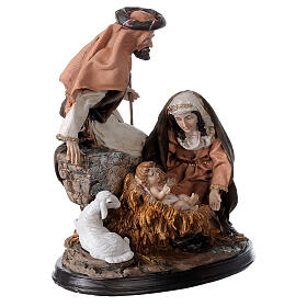 Nativity in resin with base 23 cm s3