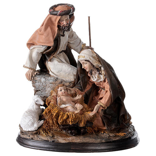 Nativity in resin with base 23 cm 1