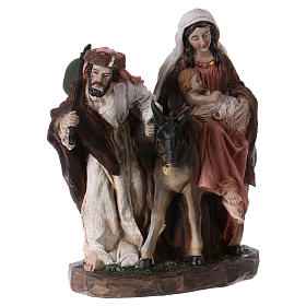 Flight into Egypt in resin with base 20 cm s4