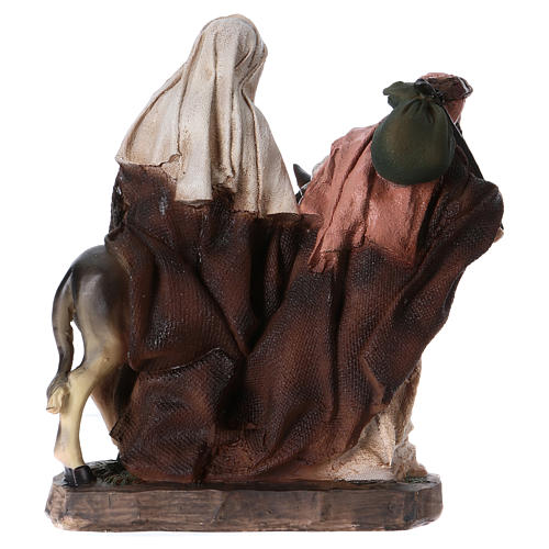 Flight into Egypt in resin with base 20 cm 5