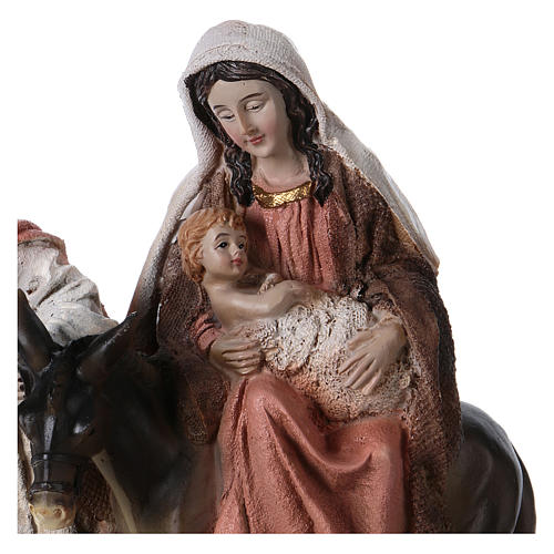 Resin flight into Egypt with base 20 cm tall 2