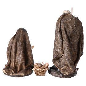 Natività di 3 pezzi 32 cm con manto color oro s5