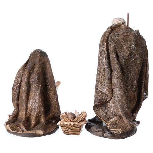 Natività di 3 pezzi 32 cm con manto color oro 5