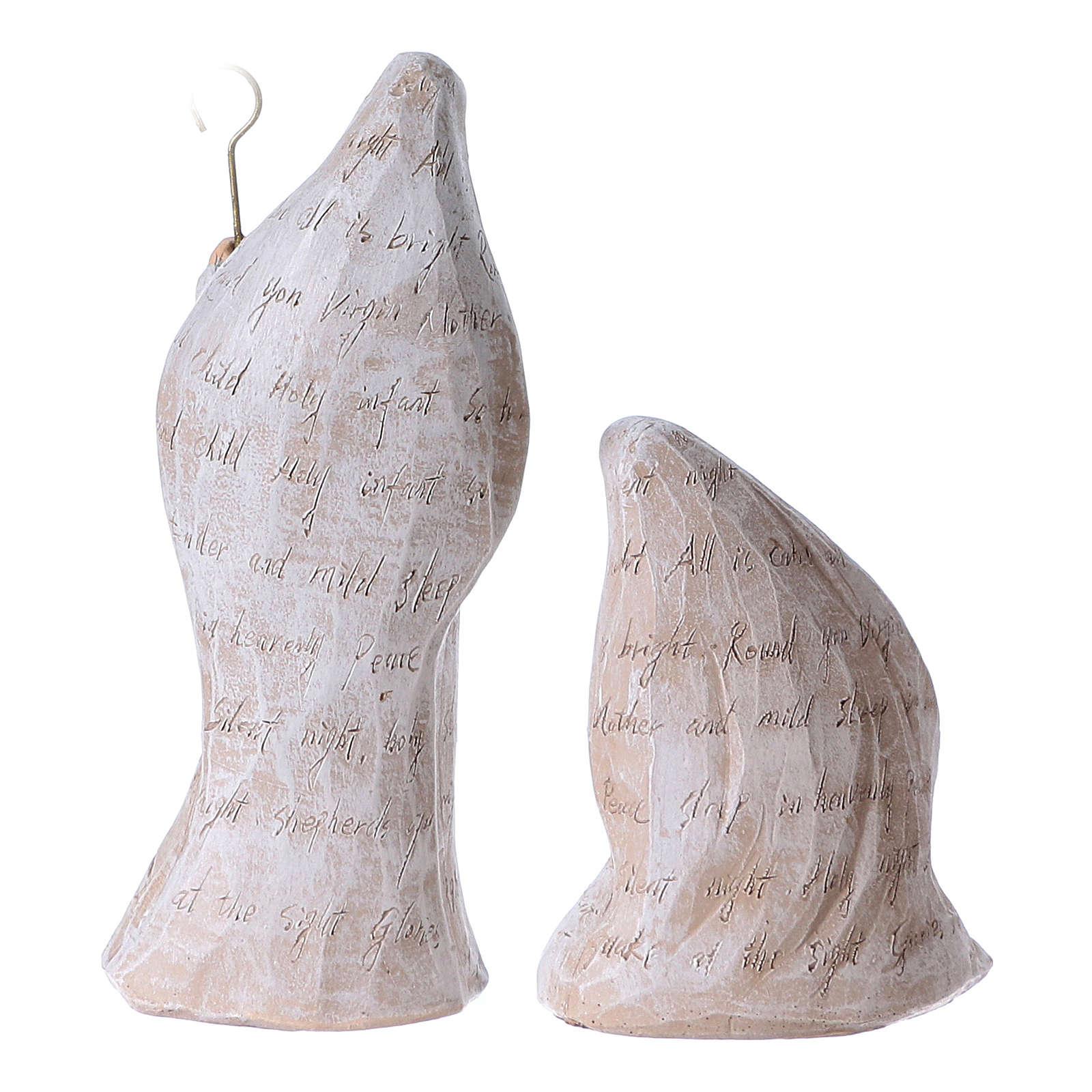 Presepe di 6 pezzi 30 cm di colore bianco 4