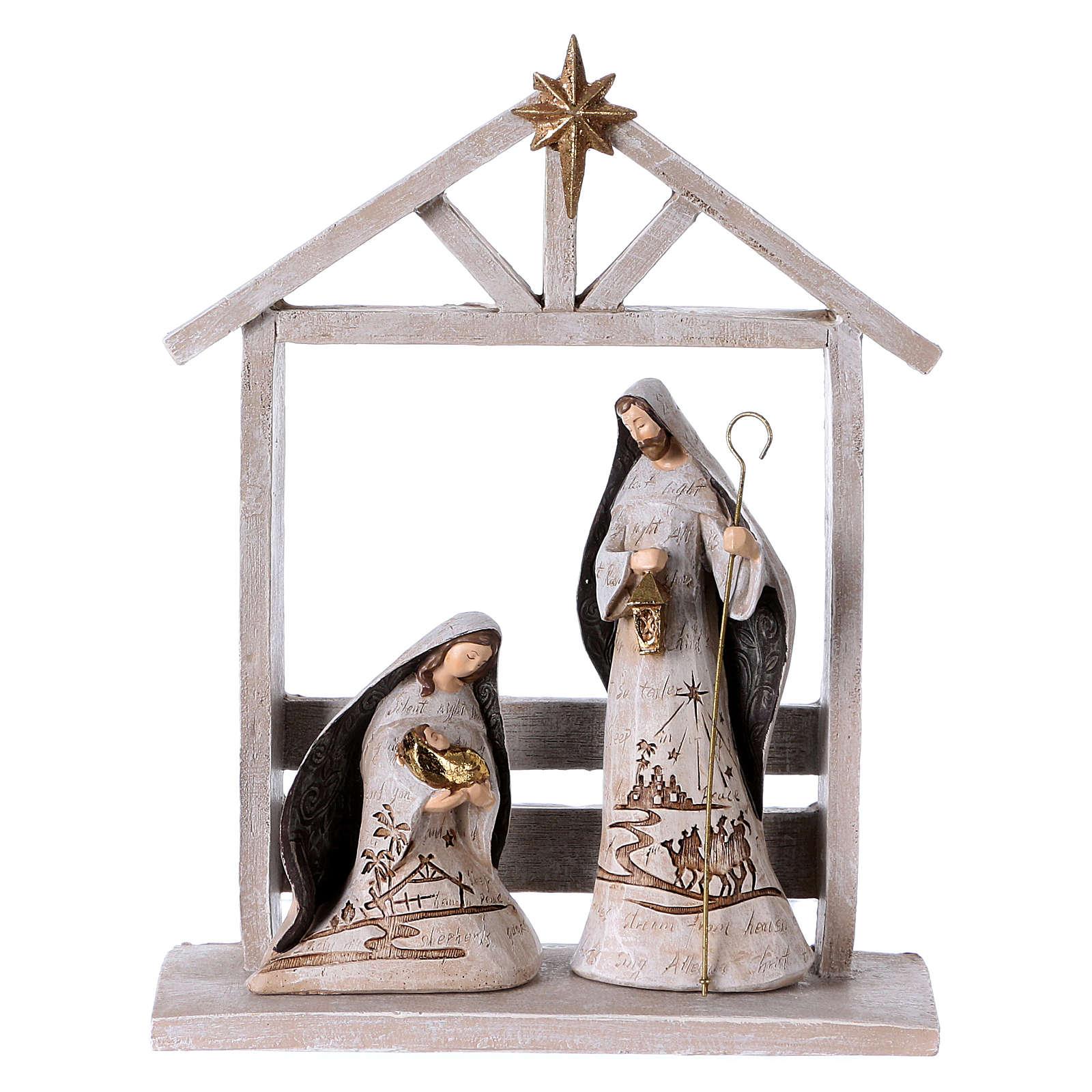 White Nativity Scene 30 cm, set of 6 figurines 4