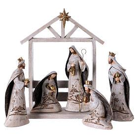 White Nativity Scene 30 cm, set of 6 figurines s1
