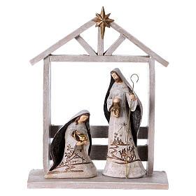 White Nativity Scene 30 cm, set of 6 figurines s2