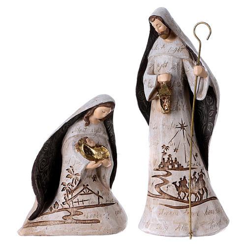 White Nativity Scene 30 cm, set of 6 figurines 3