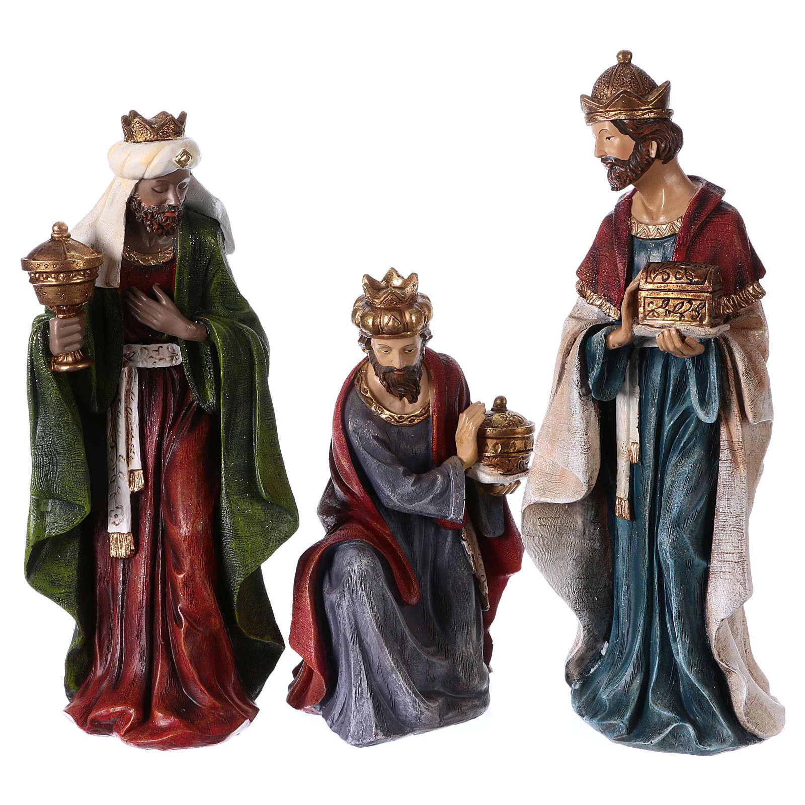 Multicolored Nativity Scene 32 cm, set of 8 figurines 4