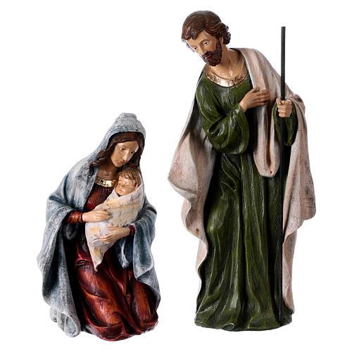 Multicolored Nativity Scene 32 cm, set of 8 figurines 2