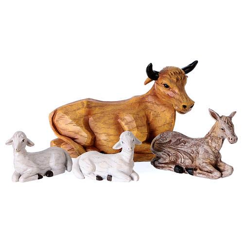 Multicolored Nativity Scene 32 cm, set of 8 figurines 5