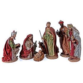 Multicolour Nativity Scene in 8 pieces 28 cm s1