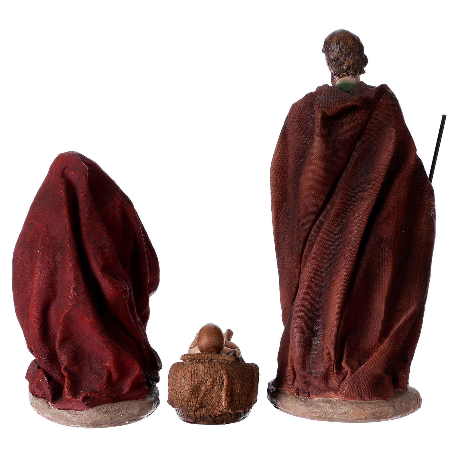 Colored Nativity Scene 28 cm, set of 8 figurines 4