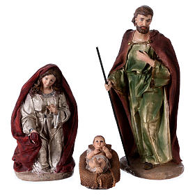 Colored Nativity Scene 28 cm, set of 8 figurines s2