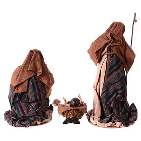 Nativity in 3 pieces, resin and fabric 26 cm s5