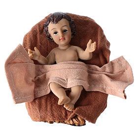 Natividad 3 piezas 26 cm resina y tela s2