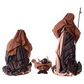 Natividad 3 piezas 26 cm resina y tela s5