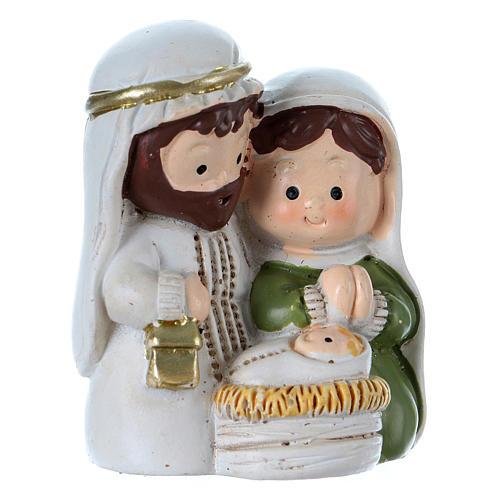 Nativity scene in painted resin 3.5 cm 1