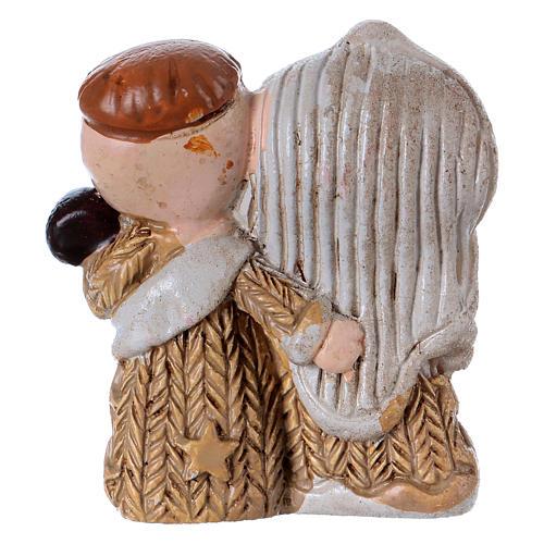 Natività in resina colorata con Gesù bambino 3,5 cm 2