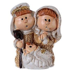 Sacra Famiglia in resina colorata 3,5 cm s1