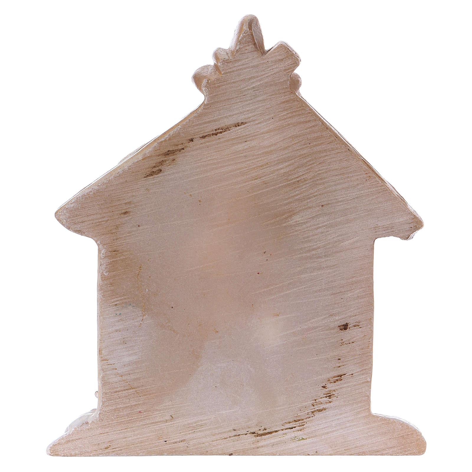 Sagrada Familia de resina coloreada con cabaña 5 cm 3