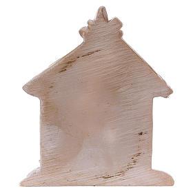 Sagrada Familia de resina coloreada con cabaña 5 cm s2