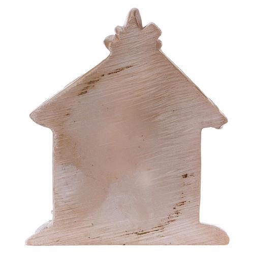 Sagrada Familia de resina coloreada con cabaña 5 cm 2