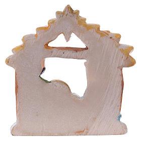 Sagrada Familia de resina con cabaña 5 cm s2