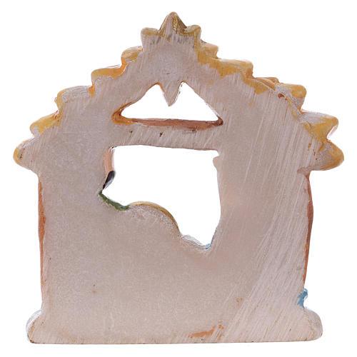 Sagrada Familia de resina con cabaña 5 cm 2