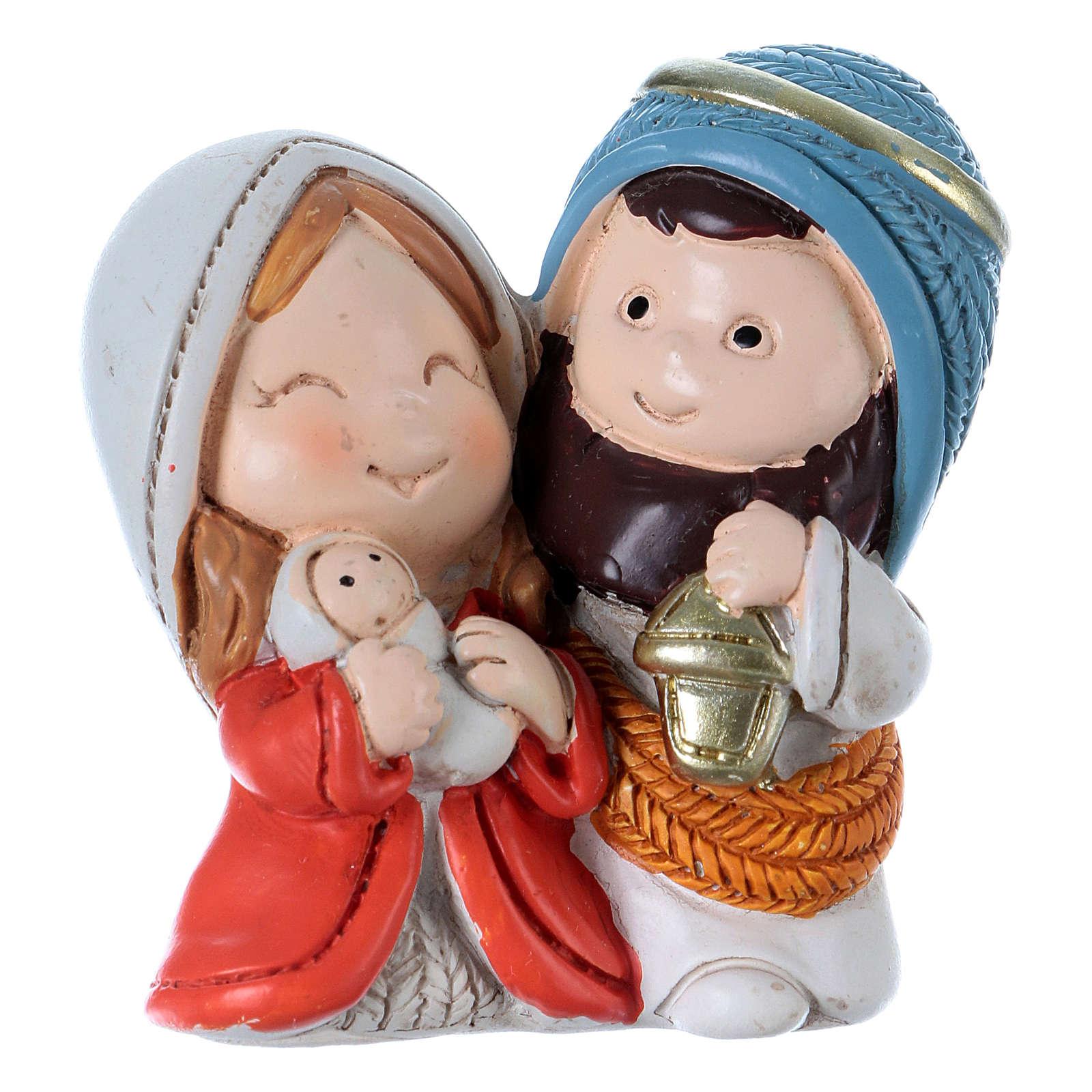 Holy Family in resin 5.5 cm 3