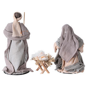 Holy Family 20 cm resin and purple and grey cloth s4