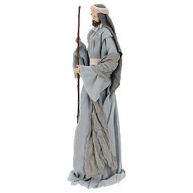 Natividad y reyes magos 46 cm resina tela violeta gris s5