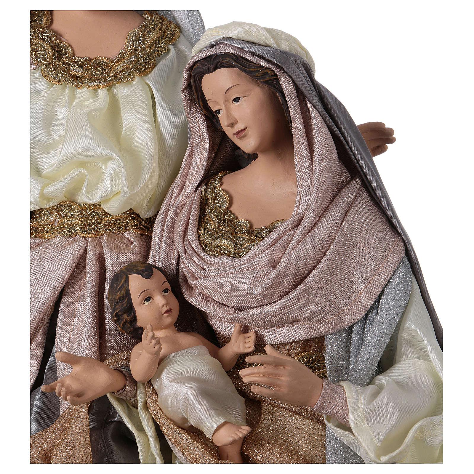 Nativité 66 cm résine gris rose style Shabby Chic 3