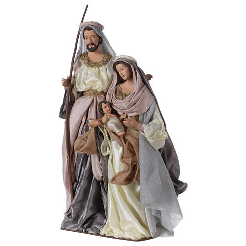 66 cm Resin Nativity silver pink style Shabby Chic 3