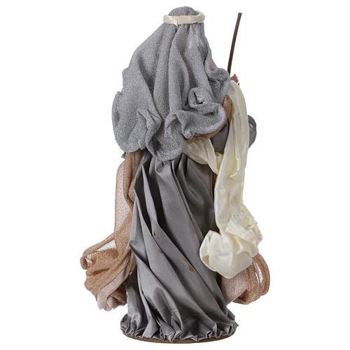 Natividad 38 cm resina tela gris rosa Shabby Chic 6