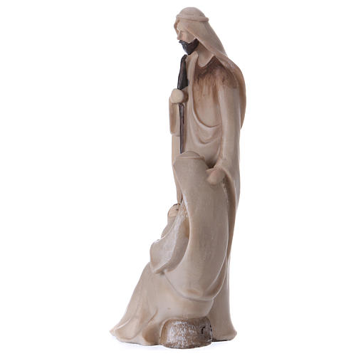 Holy Family 21 cm resin and beige cloth 2
