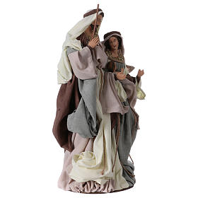 Holy Family on base 47 cm, green and beige clothes s3