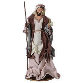 Holy Family 36 cm resin beige and green cloth s3