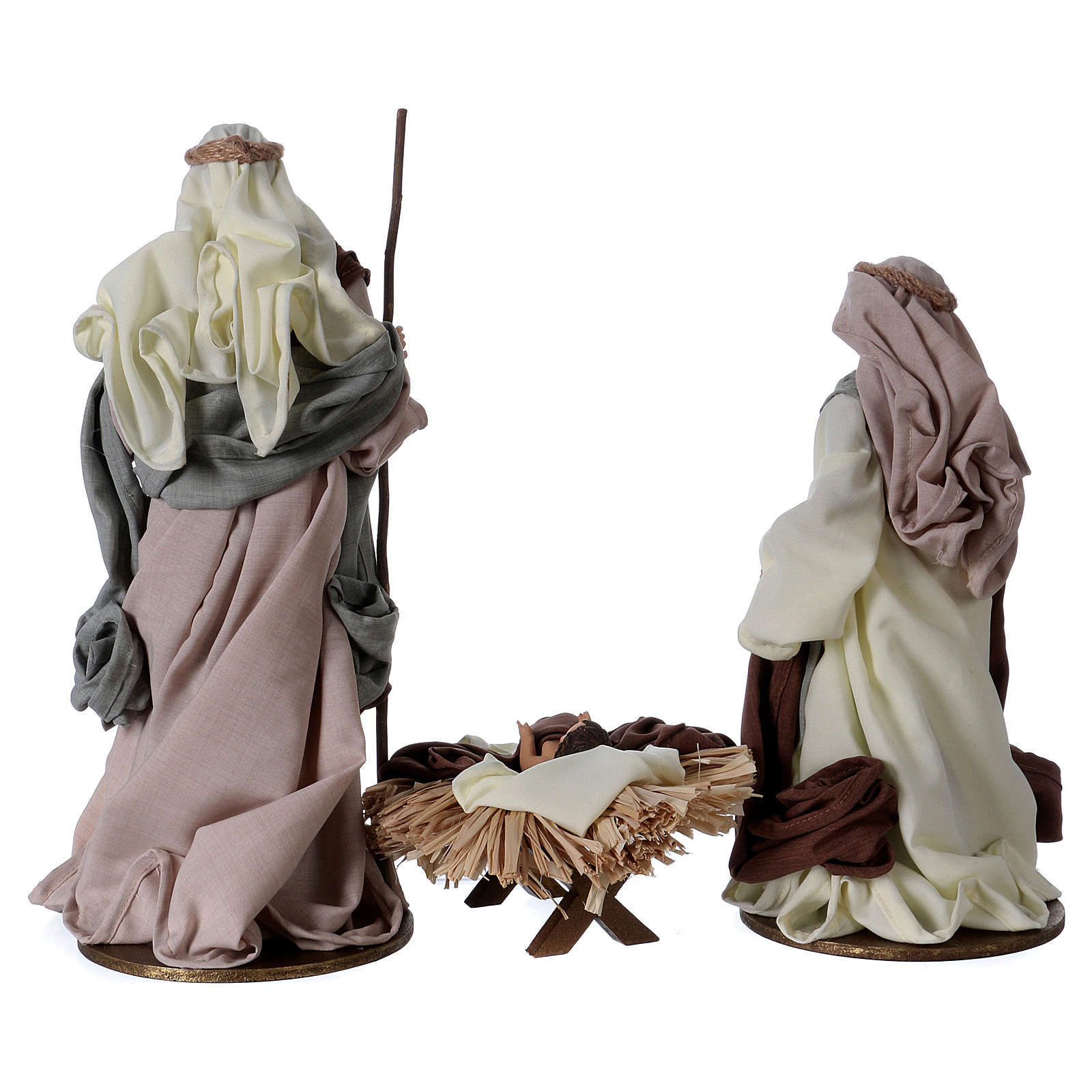 Holy Family 36 cm, green and beige clothes 3