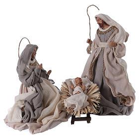 Nativity sets: 36 cm Nativity 3 pcs cream color