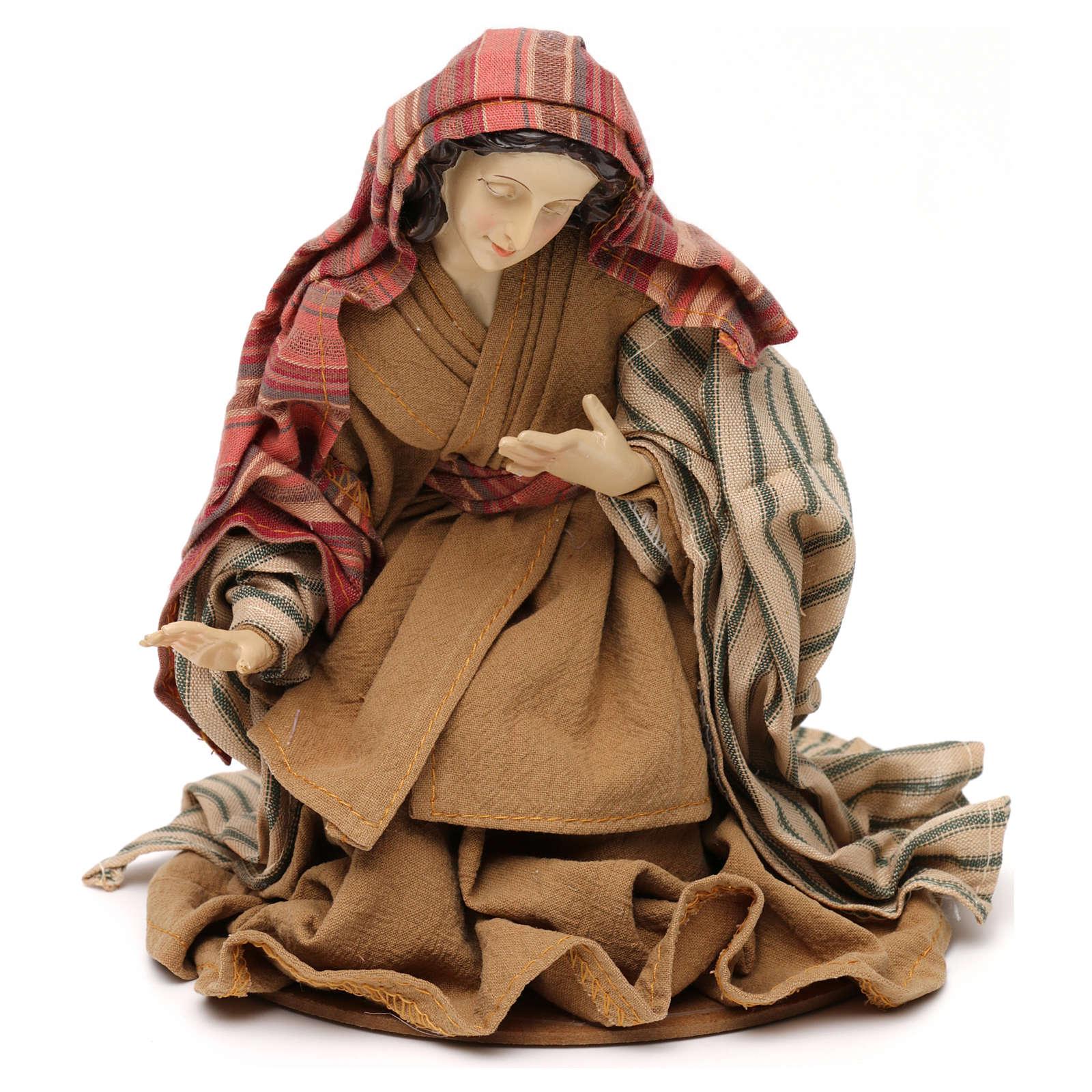 Nativity scene statues Holy Family Eastern style in resin 30 cm 3