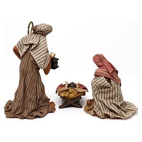 Nativity scene statues Holy Family Eastern style in resin 30 cm s5