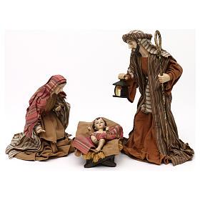 Sacra Famiglia stile orientale resina colorata 30 cm s1
