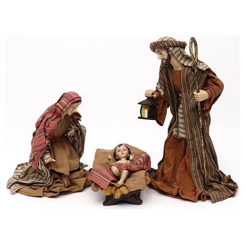 Sacra Famiglia stile orientale resina colorata 30 cm 1