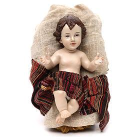 Sacra Famiglia stile orientale vesti pregiate resina colorata 42 cm s2
