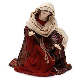 Sacra Famiglia stile orientale vesti pregiate resina colorata 42 cm s3